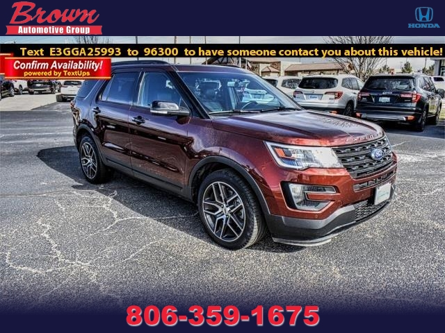 Pre Owned 2016 Ford Explorer 4wd 4dr Sport